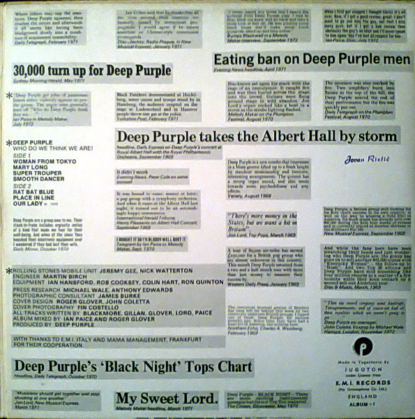 Deep Purple - Who Do We Think We Are (LP, Album, Gat)