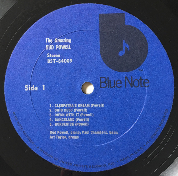 The Amazing Bud Powell* - The Scene Changes, Vol. 5 (LP, Album, RE)