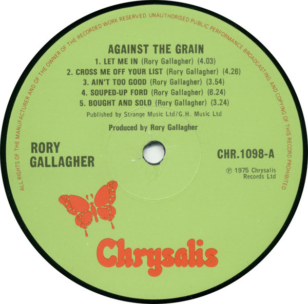 Rory Gallagher - Against The Grain (LP, Album)