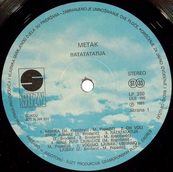 Metak - Ratatatatija (LP, Album)
