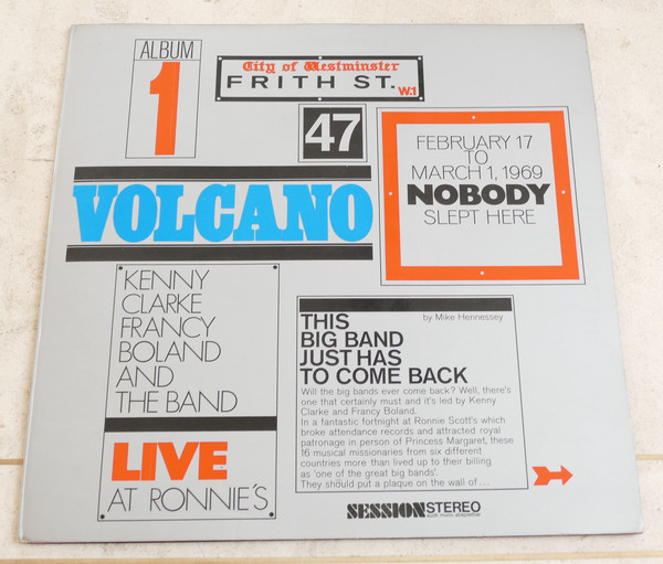 Kenny Clarke Francy Boland And The Band* - Live At Ronnie's ; Album 1 ; Volcano (LP, Album, RE, Gat)