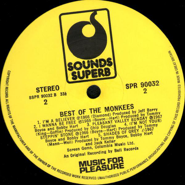 The Monkees - Best Of The Monkees (LP, Comp, RE)