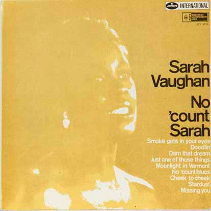 Sarah Vaughan - No Count Sarah (LP, Album)