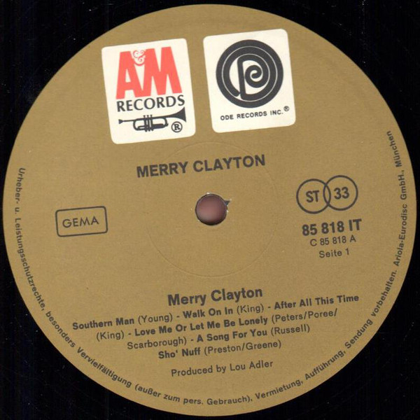 Merry Clayton - Merry Clayton (LP, Album)