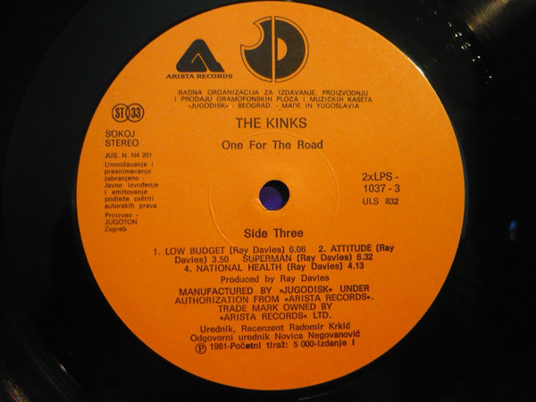 The Kinks - One For The Road (2xLP, Album)