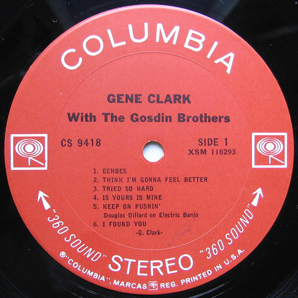 Gene Clark With The Gosdin Brothers - Gene Clark With The Gosdin Brothers (LP, Album)