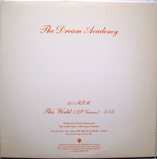 The Dream Academy - This World (12