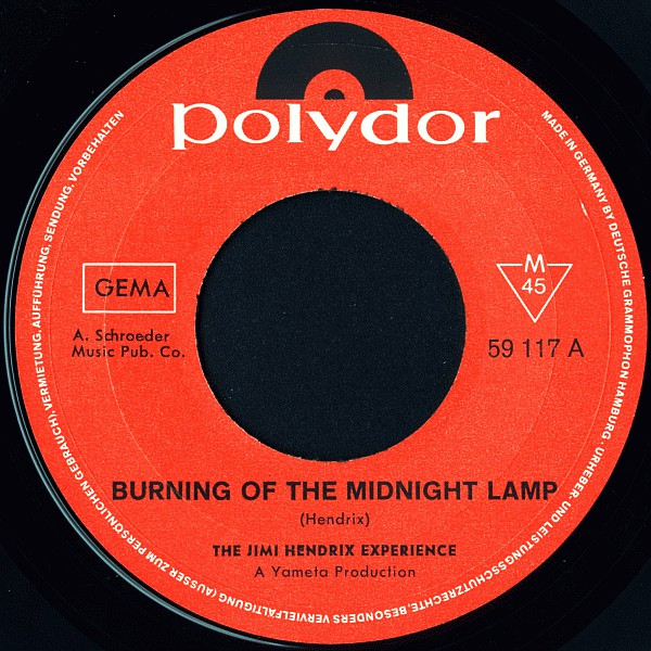 The Jimi Hendrix Experience - Burning Of The Midnight Lamp (7
