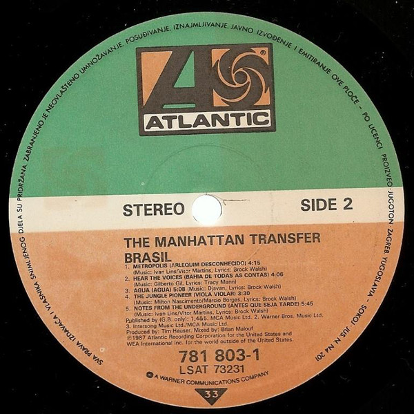 The Manhattan Transfer - Brasil (LP, Album)