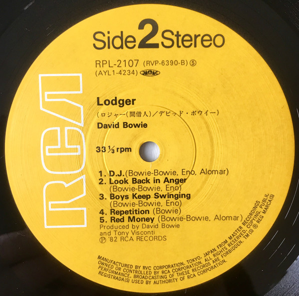 David Bowie - Lodger (LP, Album, RE)
