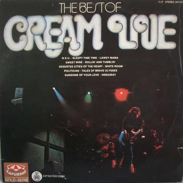 Cream (2) - The Best Of Cream Live (2xLP, Comp)