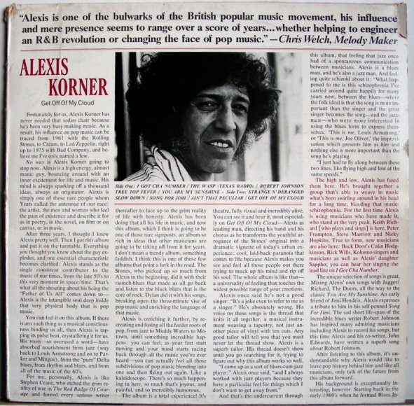 Alexis Korner - Get Off Of My Cloud (LP)