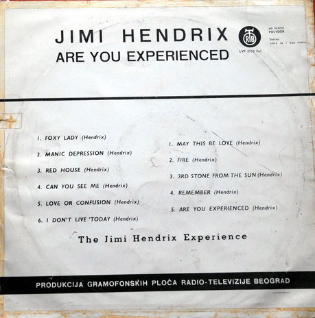 The Jimi Hendrix Experience - Are You Experienced? (LP, Album)