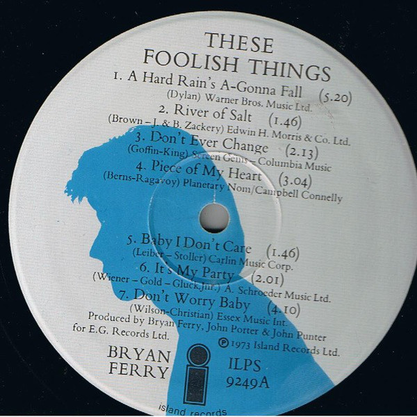 Bryan Ferry - These Foolish Things (LP, Album)