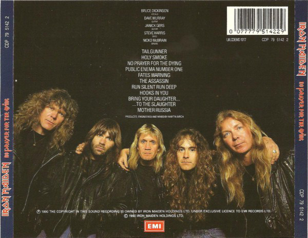 Iron Maiden - No Prayer For The Dying (CD, Album)