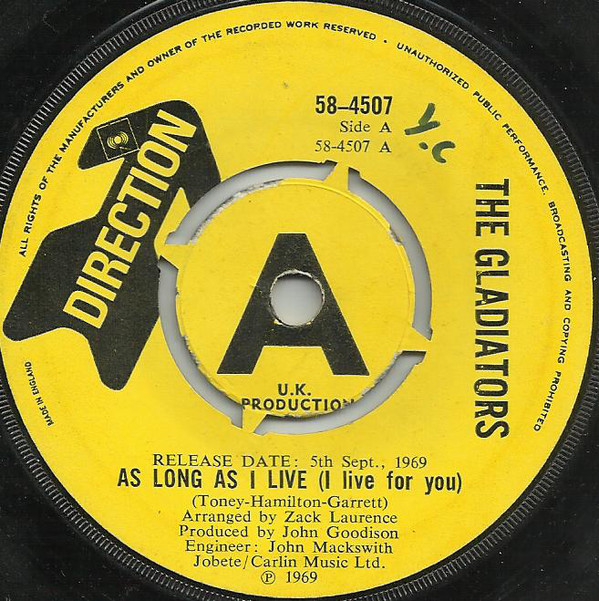 The Gladiators (11) - As Long As I Live (I Live For You) (7