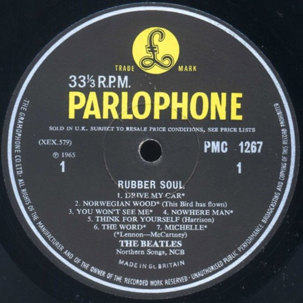The Beatles - Rubber Soul (LP, Album, Mono, Gar)