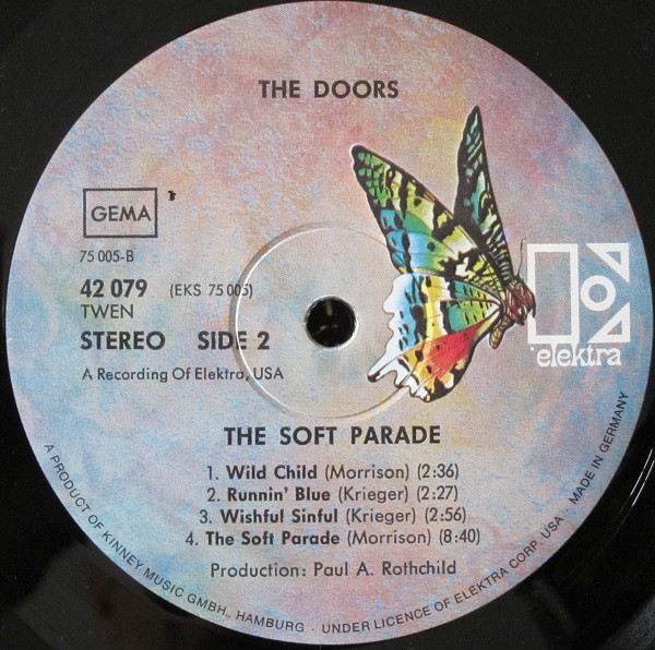 The Doors - The Soft Parade (LP, Album, RE, Gat)