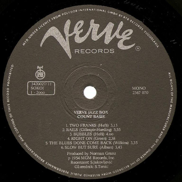 Various - Verve Records Jazz Box (10xLP, Comp + Box, Ltd)