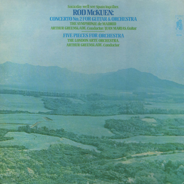 Rod McKuen - Concerto No. 2 For Guitar And Orchestra/Five Pieces For Orchestra (LP, Album)