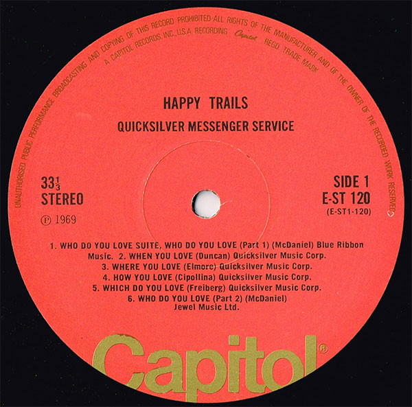 Quicksilver Messenger Service - Happy Trails (LP, Album, RE, Red)