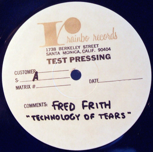 Fred Frith - Technology Of Tears (LP, TP, W/Lbl, Gen)