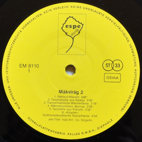 Mákvirág - Mákvirág Folk Ensemble 2. (LP, Album)