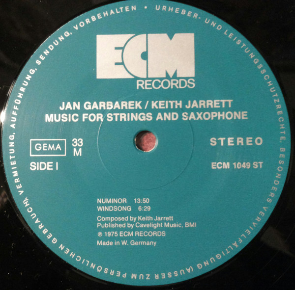 Keith Jarrett / Jan Garbarek - Luminessence (LP, Album)
