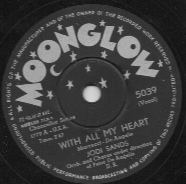 Jodi Sands* - With All My Heart / (Can't We Be) More Than Only Friends (Shellac, 10