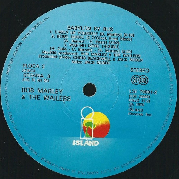Bob Marley & The Wailers - Babylon By Bus (2xLP, Album)