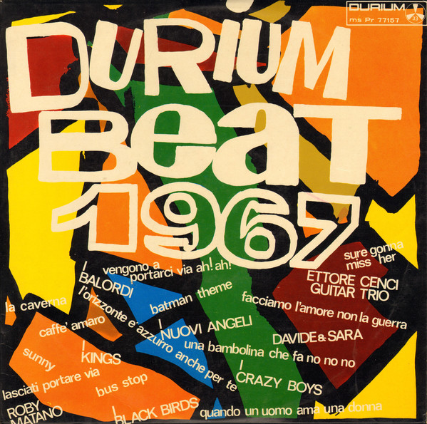 Various - Durium Beat 1967 (LP, Album, Comp, Promo)