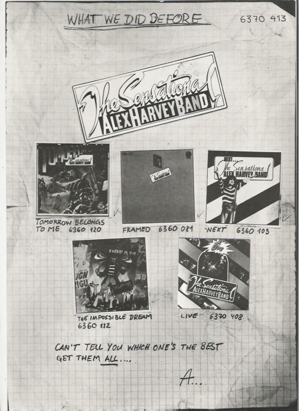 The Sensational Alex Harvey Band - The Penthouse Tapes (LP, Album)