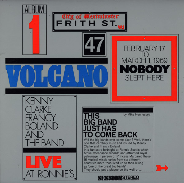 Kenny Clarke Francy Boland And The Band* - Live At Ronnie's ; Album 1 ; Volcano (LP, Album, Gat)